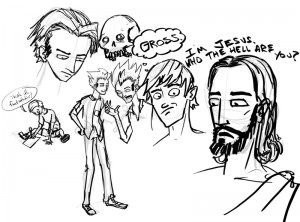 Jesus and some random doodles
